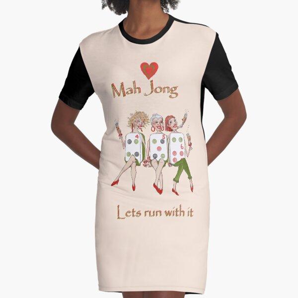 Mah Jong Chow Graphic T-Shirt Dress