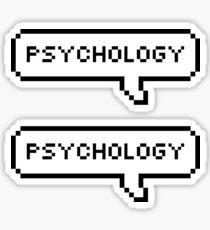 Psychology Speech Bubbles Sticker