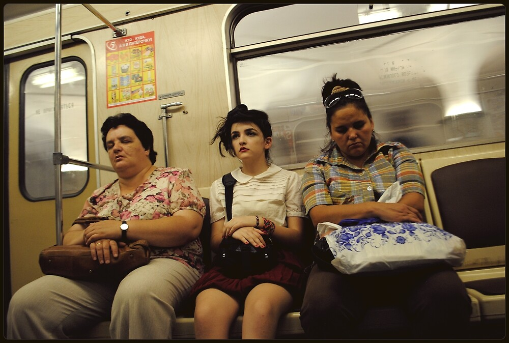 Hot, Tired and Bother (On The Metro) by Pedro Lamuño
