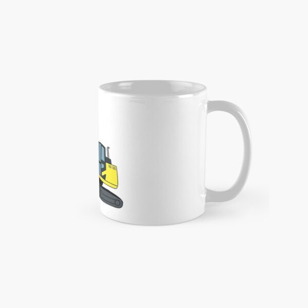 Excavator Construction Vehicle Illustration Classic Mug