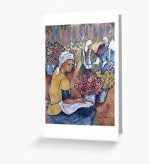 Adderley Street flower sellers Greeting Card