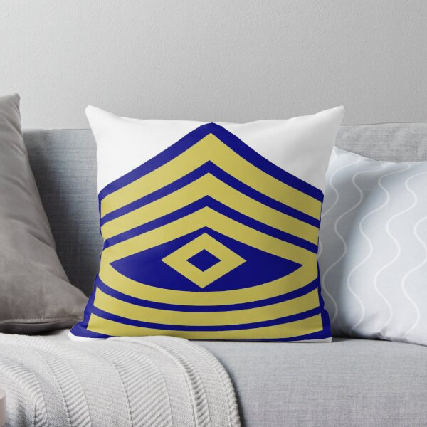 Yellow, high-visibility clothing, patriotism, symbol, design, illustration, rows, striped Throw Pillow