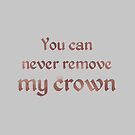Bilal Hassani - Roi  ESC 2019 - You can never remove my crown  (copper) by talgursmusthave