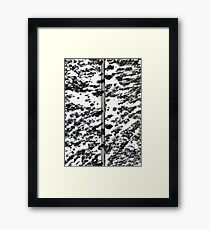 Snow from above Framed Print