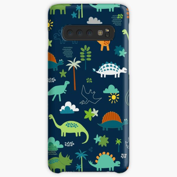 Dinosaur Land - cute Dino pattern by Cecca Designs Samsung Galaxy Snap Case