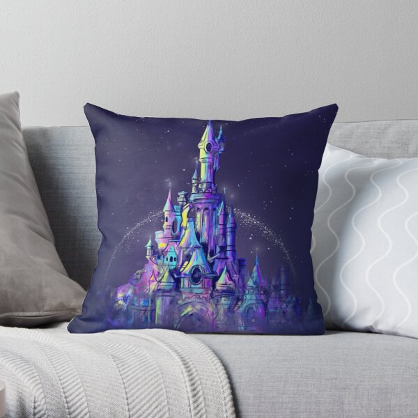 Magic Princess Fairytale Castle Kingdom Throw Pillow
