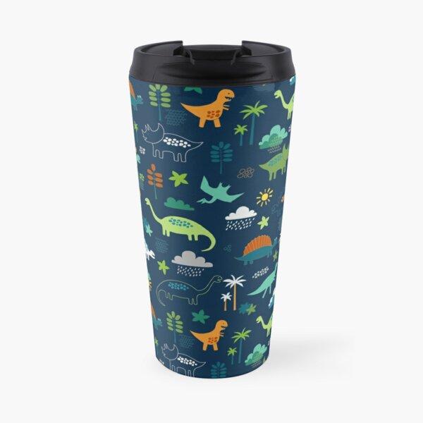 Dinosaur Land - cute Dino pattern by Cecca Designs Travel Mug