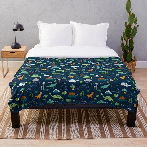 Dinosaur Land - cute Dino pattern by Cecca Designs Throw Blanket