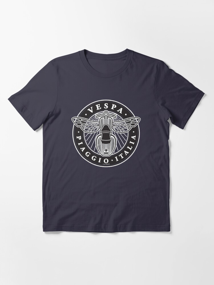 Alternate view of Vespa Piaggio Italia [black & white version] Essential T-Shirt