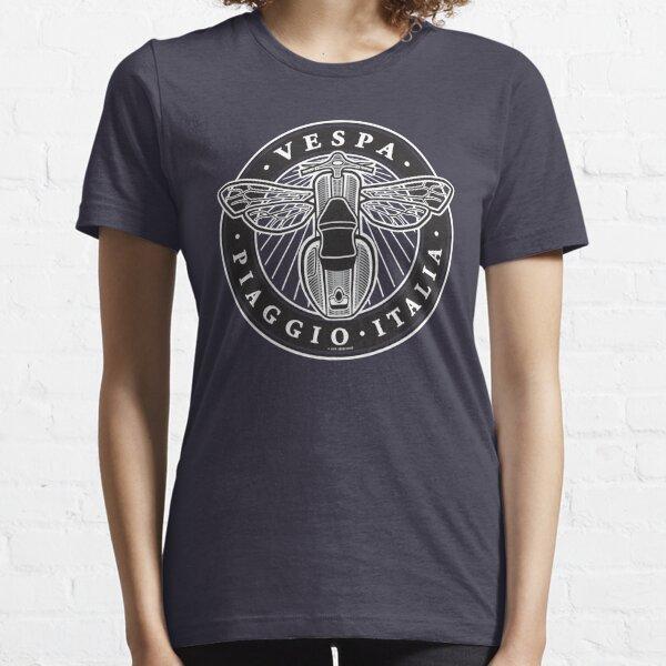Vespa Piaggio Italia [black & white version] Essential T-Shirt