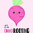 (beet)ROOTING For you! Exam Card - GCSE Card - College - University Good Luck - Beetroot - Vegan - Vegetarian - Motivational by JustTheBeginning-x (Tori)
