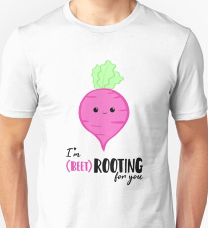 (beet)ROOTING For you! Exam Card - GCSE Card - College - University Good Luck - Beetroot - Vegan - Vegetarian - Motivational T-Shirt