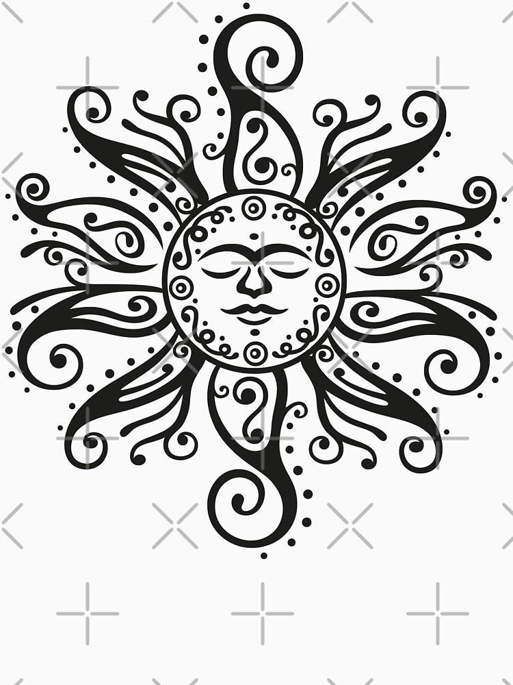 Tribal Mehndi Sonne  von ChristineKrahl