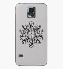 Tribal Mehndi Sonne  Hülle & Klebefolie für Samsung Galaxy