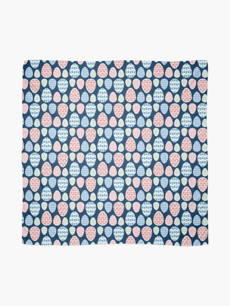 Alternate view of Painted eggs pattern Scarf
