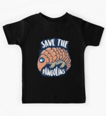 Save The Pangolins Art | Cool Guard Scaly Anteaters Gift Kinder T-Shirt