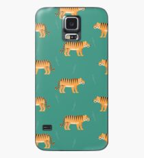 Tigers on blue Case/Skin for Samsung Galaxy