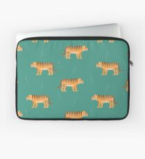 Tigers on blue Laptop Sleeve