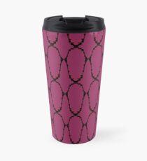 Design ethno elements, deep Pink Travel Mug
