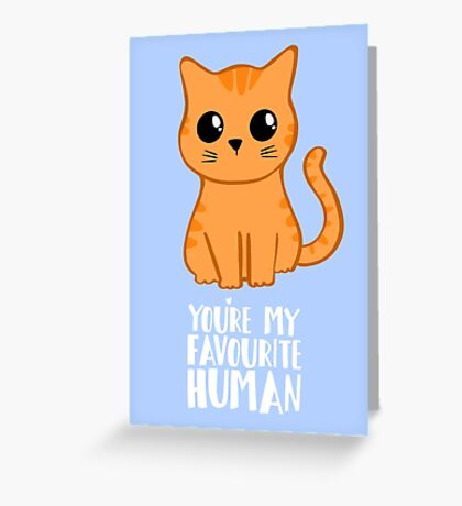 You're my favourite human - Ginger Cat - Gifts from the cat Greeting Card