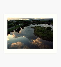Ballydehob reflections Art Print