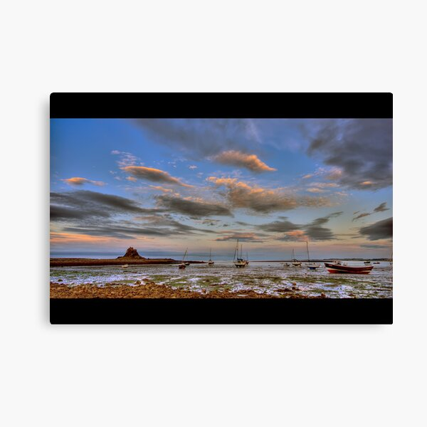 Sunset boats Canvas Print