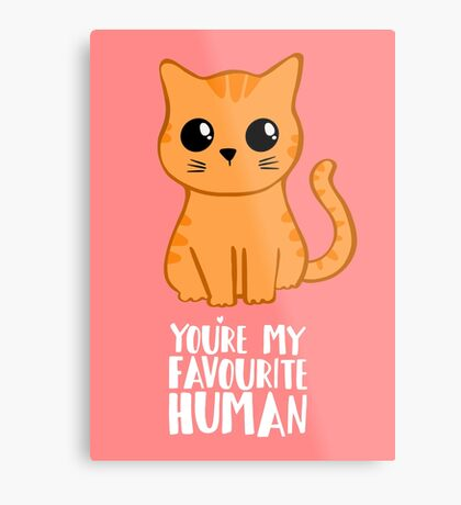 You're my favourite human - Ginger Cat - Shirt from the cat Metal Print