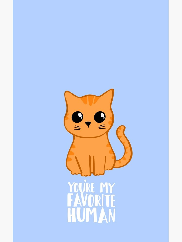 You're my favorite human - Ginger Cat - Gifts from the cat - Cat MOM by JTBeginning-x
