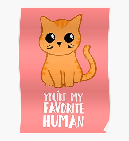 You're my favorite human - Ginger Cat - Shirt from the cat MOM - American Spelling Poster