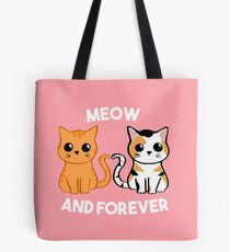 Meow and Forever - Cat Anniversary Tote Bag