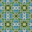 «Lime Green Turquoise Blue Grey Hip Orient Bali Art» de LC Graphic Design Studio