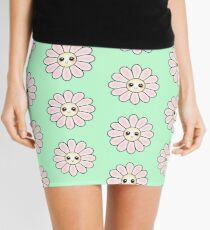 Kawaii Daisy | Pink Blossom Flower Mini Skirt