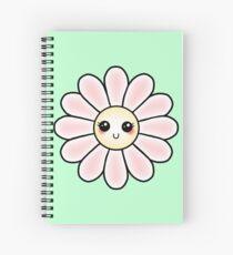 Kawaii Daisy | Pink Blossom Flower Spiral Notebook