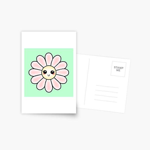 Kawaii Daisy | Pink Blossom Flower Postcard