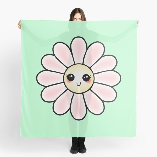 Kawaii Daisy | Pink Blossom Flower Scarf