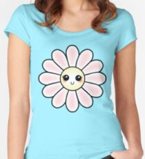 Kawaii Daisy | Pink Blossom Flower Fitted Scoop T-Shirt
