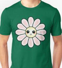 Kawaii Daisy | Pink Blossom Flower Slim Fit T-Shirt