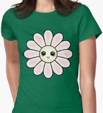 Kawaii Daisy   Pink Blossom Flower Fitted T-Shirt