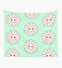 Kawaii Daisy | Pink Blossom Flower Wall Tapestry