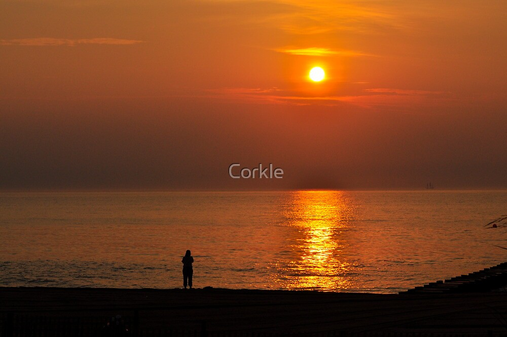Alone at Sunrise by Corkle