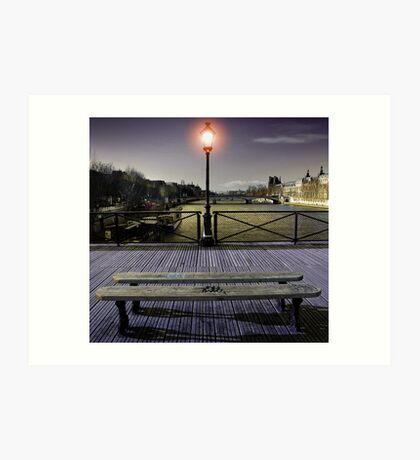 Pont des arts Art Print