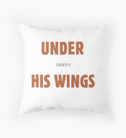 Under His wings - Psalm 91:4 Floor Pillow
