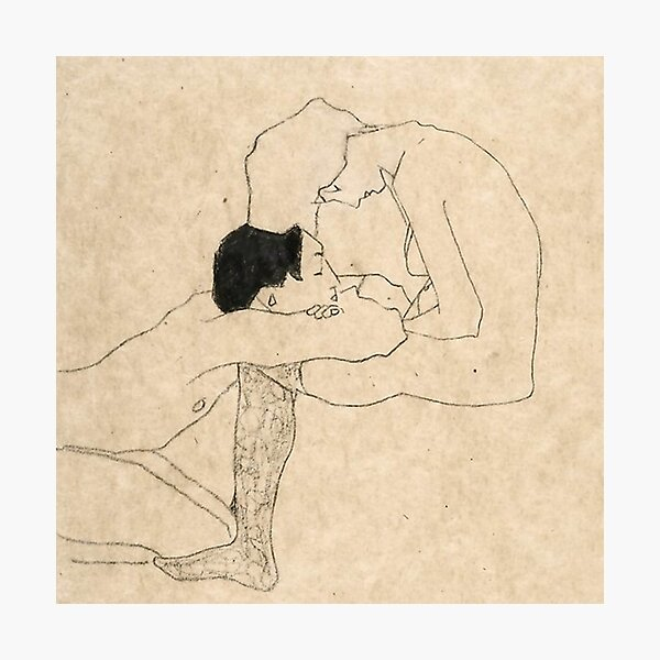 Egon Schiele Amoureux Impression photo
