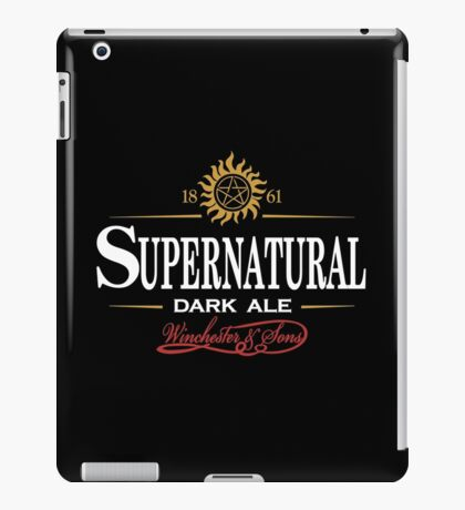 Supernatural Dark Ale iPad Case/Skin