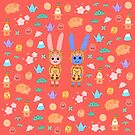 Rabbits Love of Japan by Rowehon