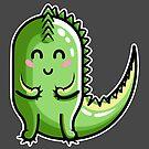 Kawaii Cute Dinosaur by Fiona Reeves