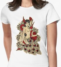 Pinup & Peacock Womens Fitted T-Shirt