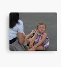 Child with an Issue Canvas Print