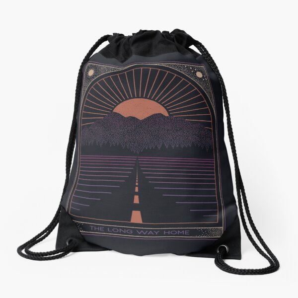 The Long Way Home Drawstring Bag