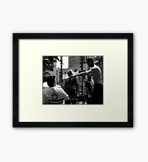 Angry in the Park Framed Print